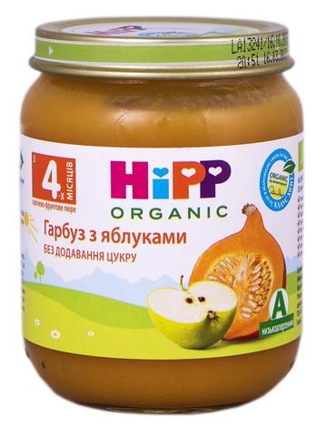 HiPP Пюре Гарбуз з яблуками з 4 місяців 125 г 1 банка
