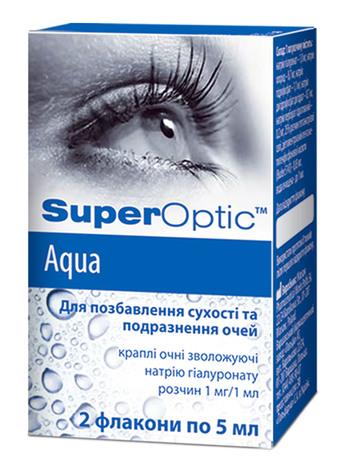 СуперОптік Аква краплі очні 5 мл 2 флакони