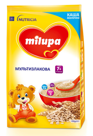 Milupa Каша молочна Мультизлакова з 7 місяців 210 г 1 пакет