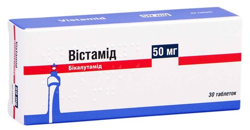 Бікалутамід Віста таблетки 50 мг 30 шт