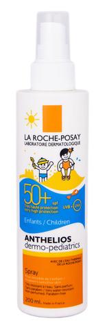 La Roche-Posay Anthelios Дермо-Педіатрікс Спрей сонцезахисний для чутливої шкіри дітей SPF-50+ 200 мл 1 флакон