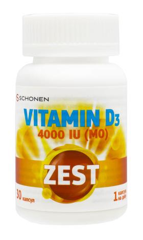 Zest Вітамін Д3 капсули 4000 МО 30 шт