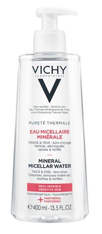 Vichy Purete Thermale Міцелярна вода для чутливої шкіри обличчя та очей 400 мл 1 флакон