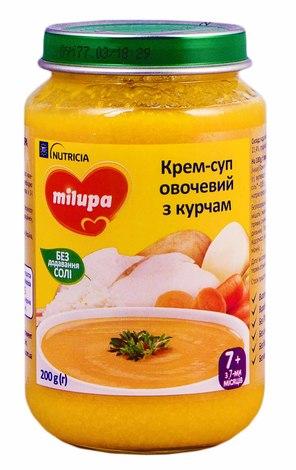 Крем-суп овочевий з курчам з 7 місяців 200 г 1 банка