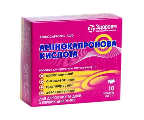 Амінокапронова Кислота Здоров'я порошок для орального розчину 1 г 10 шт