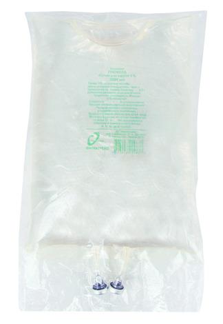 Глюкоза розчин для інфузій 5 % 3000 мл 1 контейнер