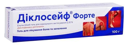 Діклосейф Форте емульсійний гель 2,32 % 100 г 1 туба