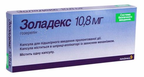 Золадекс капсула для підшкірного введення 10,8 мг 1 шт