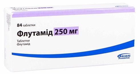 Флутамід таблетки 250 мг 84 шт