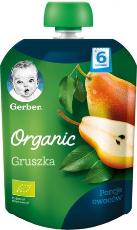 Gerber Organic Пюре Груша з 6 місяців 90 г 1 пауч