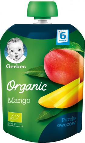 Gerber Organic Пюре Манго з 6 місяців 90 г 1 пауч