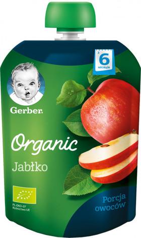 Gerber Organic Пюре Яблуко з 6 місяців 90 г 1 пауч