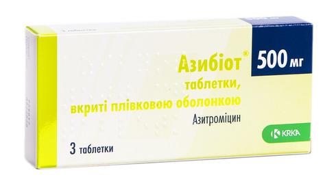 Азибіот таблетки 500 мг 3 шт