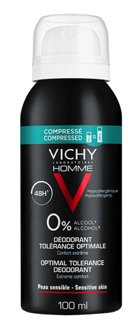 Vichy Homme Дезодорант оптимальний комфорт для чутливої шкіри 48 годин 100 мл 1 флакон