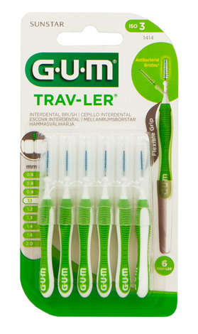 Gum Trav-Ler Зубна щітка міжзубна 1,1 мм 6 шт