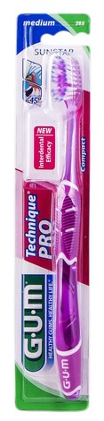 Gum Technique Pro Compact Зубна щітка компактна середньо-м'яка 1 шт