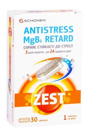 Zest Антистрес MgB6 Ретард таблетки 30 шт