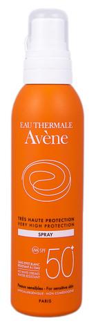 Avene Сонцезахисний спрей для чутливої шкіри SPF-50+ 200 мл 1 флакон