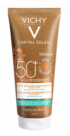 Vichy Capital Soleil Молочко зволожуюче для обличчя і тіла SPF 50+ 200 мл 1 туба