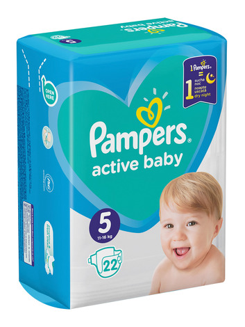 Pampers Active Baby-Dry 5 Junior Підгузки дитячі 11-16 кг 22 шт