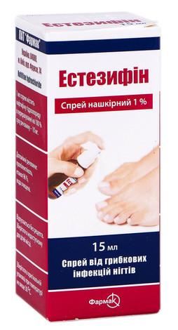 Естезифін спрей 1 % 15 мл 1 флакон