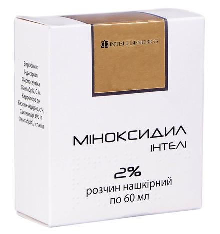 Міноксидил Інтелі розчин нашкірний 2 % 60 мл 1 флакон