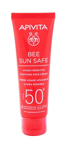 Apivita Bee Sun Safe Сонцезахисний крем для обличчя заспокійливий SPF50+ 50 мл 1 туба