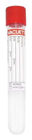 Vacuette Вакуумна пробірка з кришкою для дослідження сироватки 9мл 1 шт