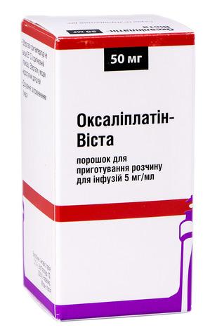 Оксаліплатін Віста порошок для інфузій 50 мг 1 флакон