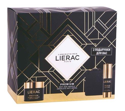 Lierac Premium Крем 50 мл + Крем для шкіри навколо очей 15 мл + косметичка 1 набір