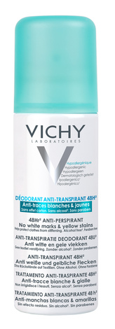 Vichy Дезодорант-антипреспірант проти білих слідів та жовтих плям 48 годин 125 мл 1 флакон