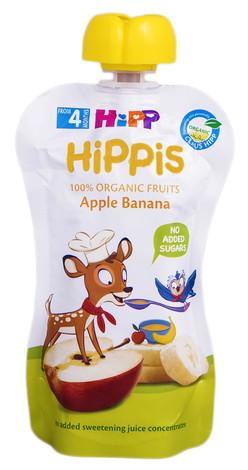 HiPP Пюре Яблуко-Банан з 4 місяців 100 г 1 пауч