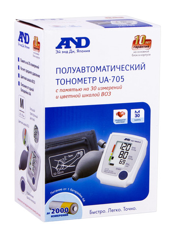 AND UA-705 Тонометр напівавтоматичнй 1 шт