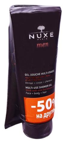 Nuxe Men Гель очищуючий для обличчя, тіла та волосся Дуо 2х200 мл 1 набір