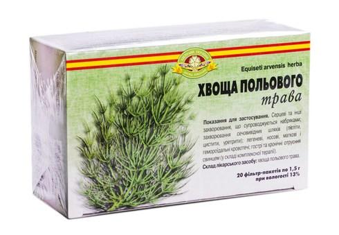 Ліктрави Хвоща польового трава 1,5 г 20 фільтр-пакетів