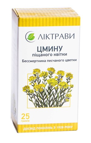 Цмину піщаного квітки Ліктрави 25 г 1 пачка