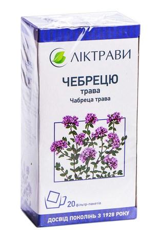 Ліктрави Чебрецю трава 1,5 г 20 фільтр-пакетів