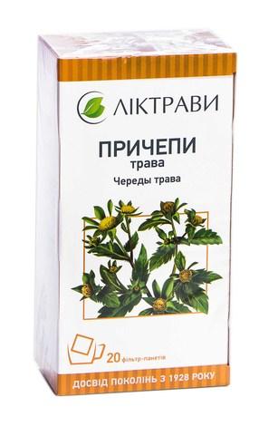 Причепи трава Ліктрави трава 1,5 г 20 фільтр-пакетів
