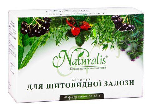 Naturalis Для щитовидної залози фіточай 1,5 г 20 фільтр-пакети