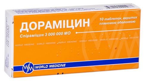 Дорамiцин таблетки 3000000 МО 10 шт