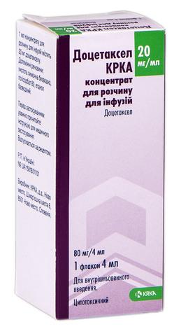 Доцетаксел КРКА концентрат для інфузій 20 мг/мл 4 мл 1 флакон