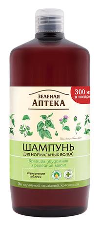 Зелена Аптека Шампунь для нормального волосся Кропива дводомна та реп'яхова олія 1000 мл 1 флакон