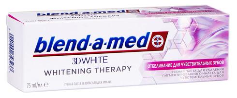 Blend-a-med Whitening Therapy Зубна паста Відбілювання для чутливих зубів 75 мл 1 туба