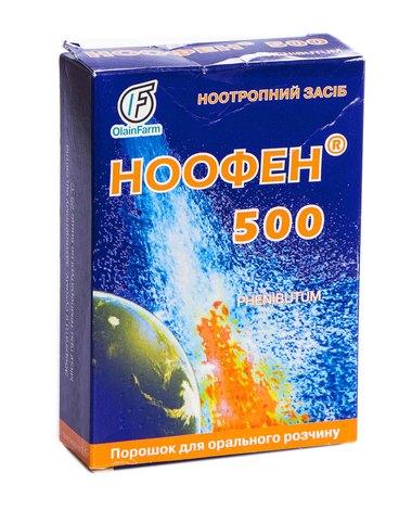 Ноофен 500 порошок для орального розчину 500 мг/дозу 5 пакетиків