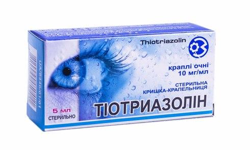 Тіотриазолін краплі очні 10 мг/мл 5 мл 1 флакон