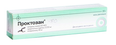 Проктозан Нео мазь ректальна 20 г 1 туба