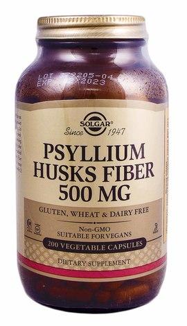 Solgar Псиліум, клітковина шкірки листя капсули 500 мг 200 шт