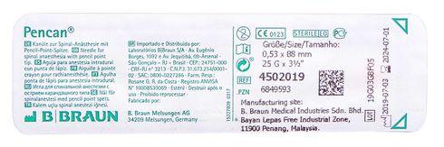 B.Braun Пенкан Голка для спінальної анестезії з вістрям олівцевого типу 25G 0.53х88мм 1 шт