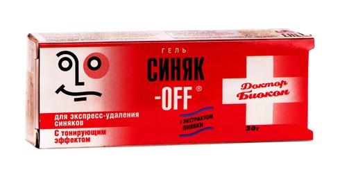 Доктор Біокон Синяк-Офф з тонуючим ефектом гель 30 г 1 туба
