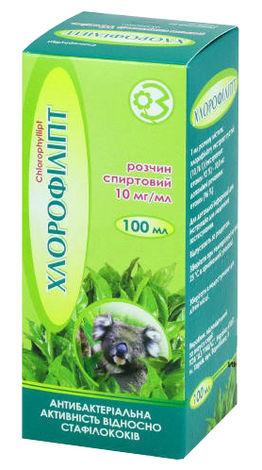 Хлорофіліпт розчин спиртовий 10 мг/мл 100 мл 1 флакон